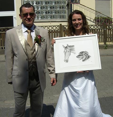 Tierportrait Hochzeitsgeschenk