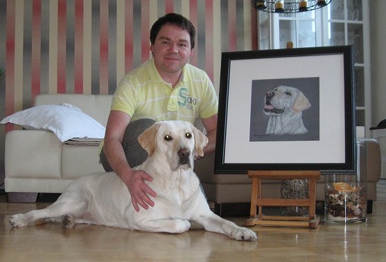 Labrador Biene Portrait