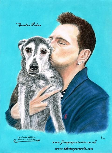Mann mit Hund Portrait