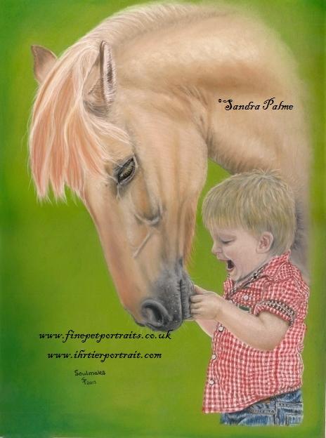Kind mit Pony Tierportrait