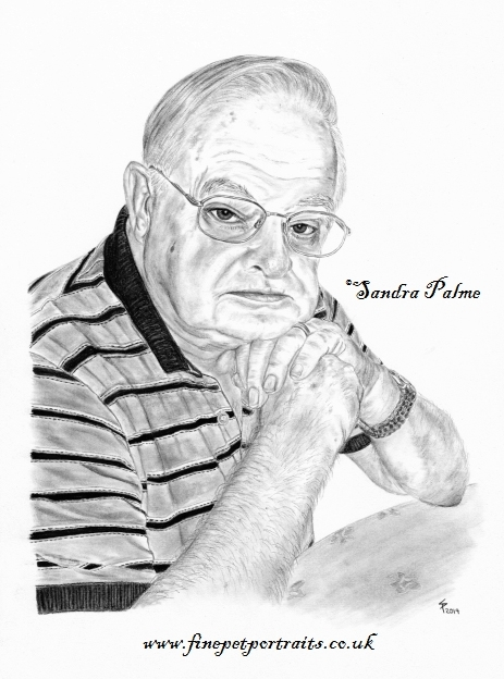 Mann Kohle-Zeichnung